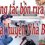 Thông tắc bồn rửa bát tại huyện Nhà Bè giá rẻ, hiệu quả