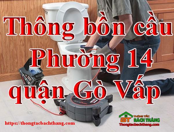 Thông bồn cầu Phường 14 quận Gò Vấp
