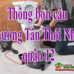Thông bồn cầu phường Tân Thới Nhất quận 12 giá rẻ, chuyên nghiệp